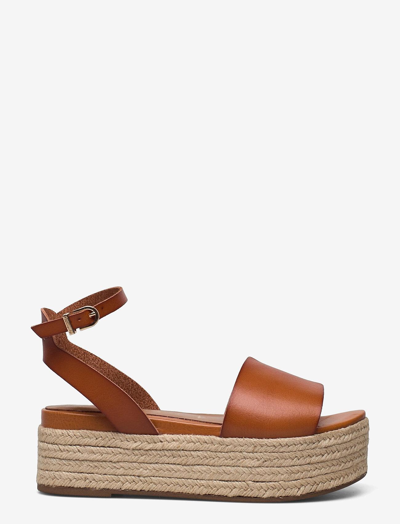 Tamaris - Woms Sandals - højhælede espadrillos - hazelnut - 0