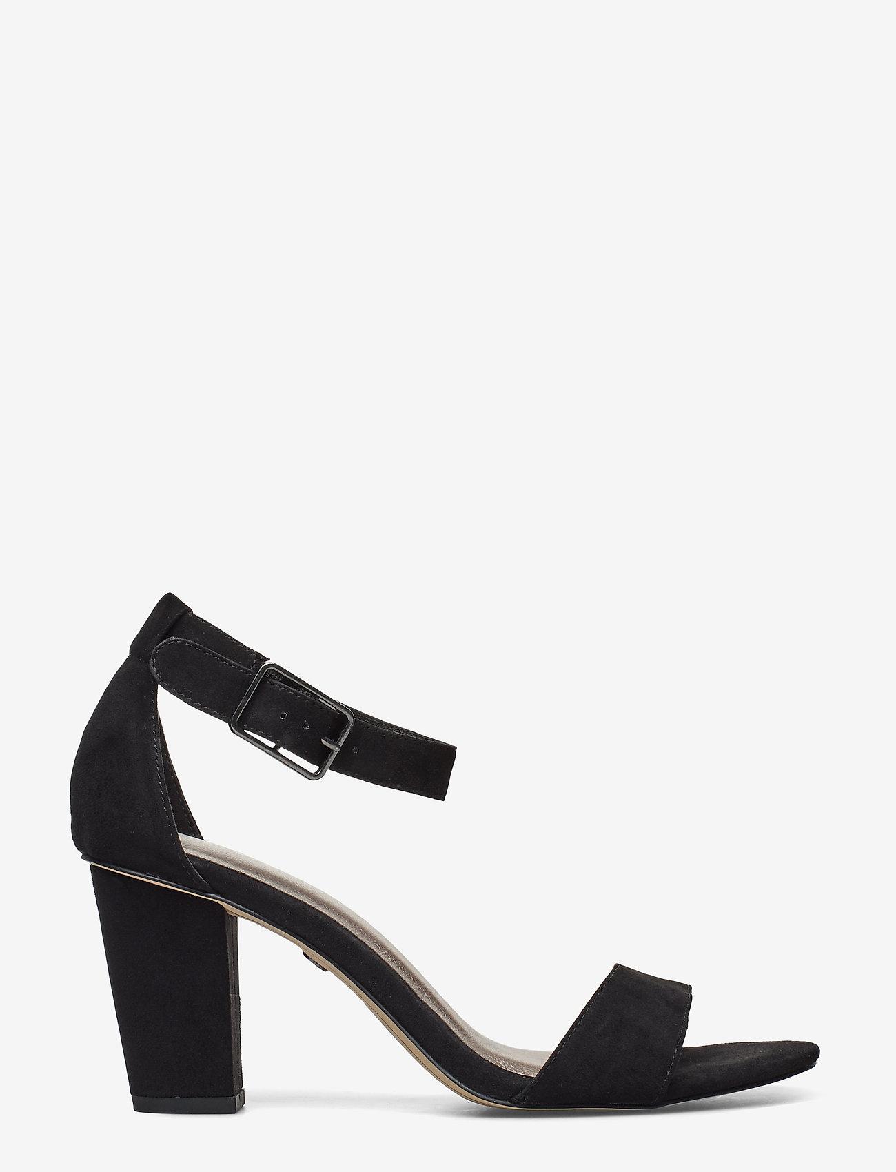 Tamaris - Woms Sandals - høyhælte sandaler - black suede