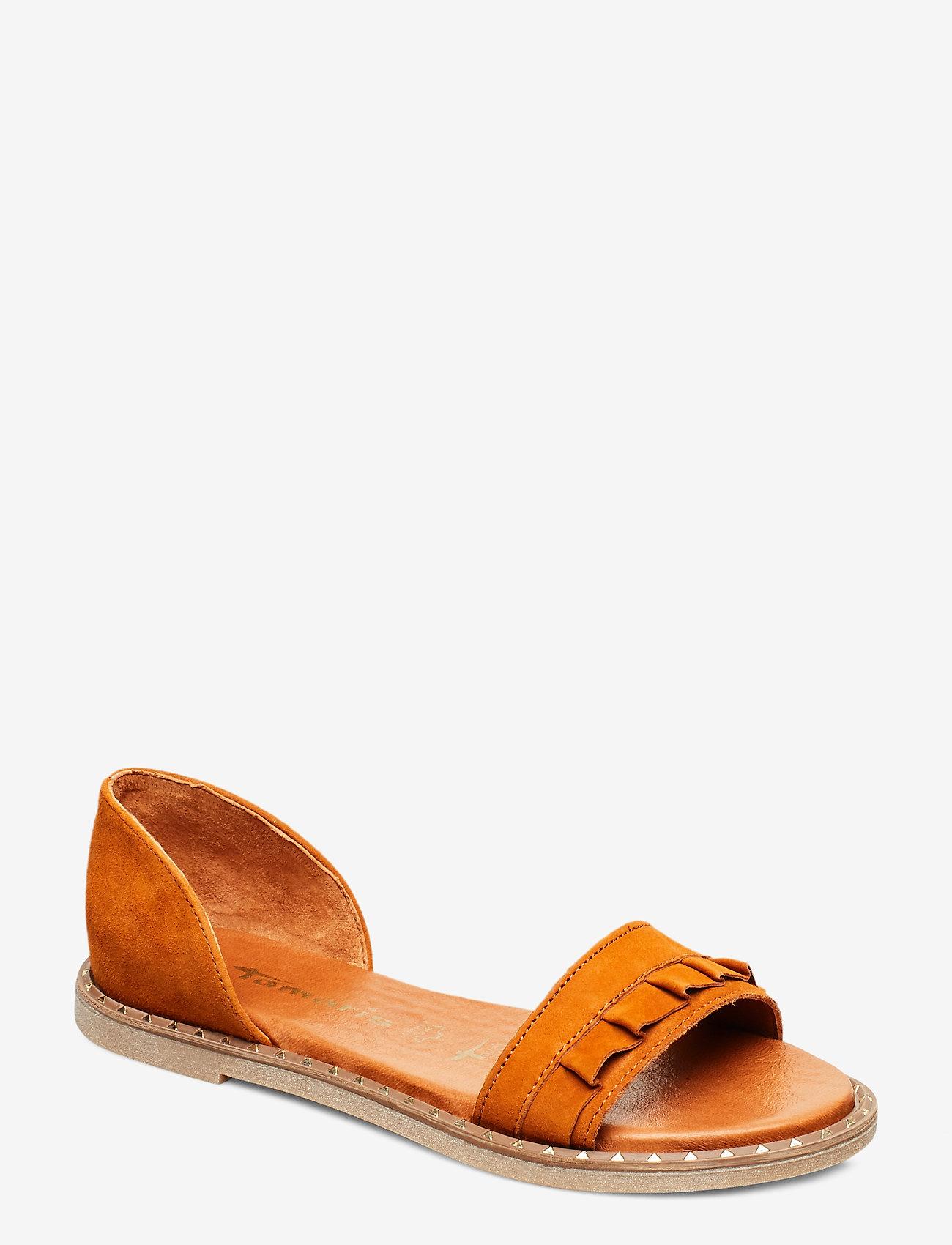 Tamaris - Woms Sandals - flate sandaler - cognac - 0