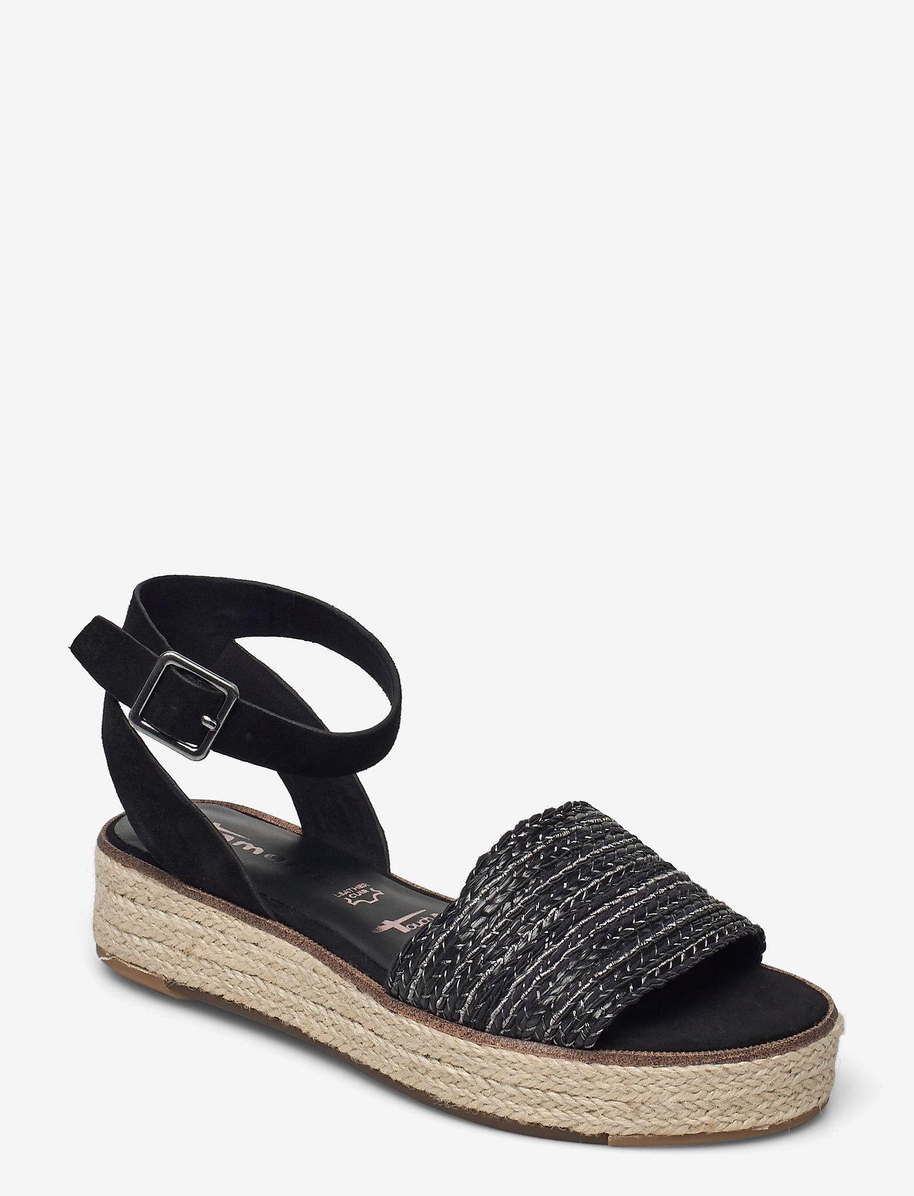 Tamaris - Woms Sandals - platta espadriller - black - 0