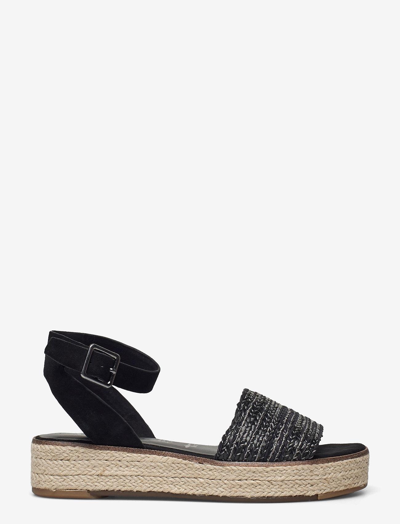 Tamaris - Woms Sandals - platta espadriller - black - 1