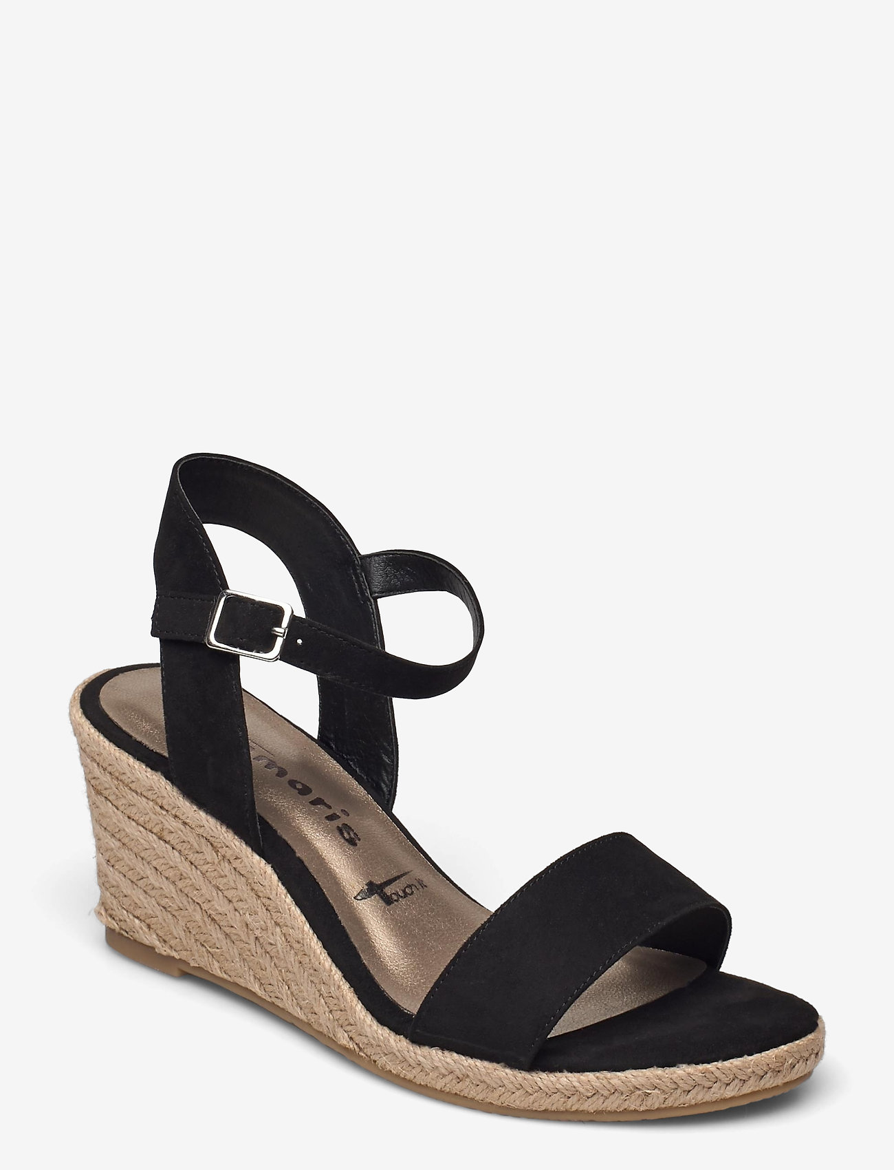 Tamaris - Woms Sandals - espadrilles mit absatz - black - 0