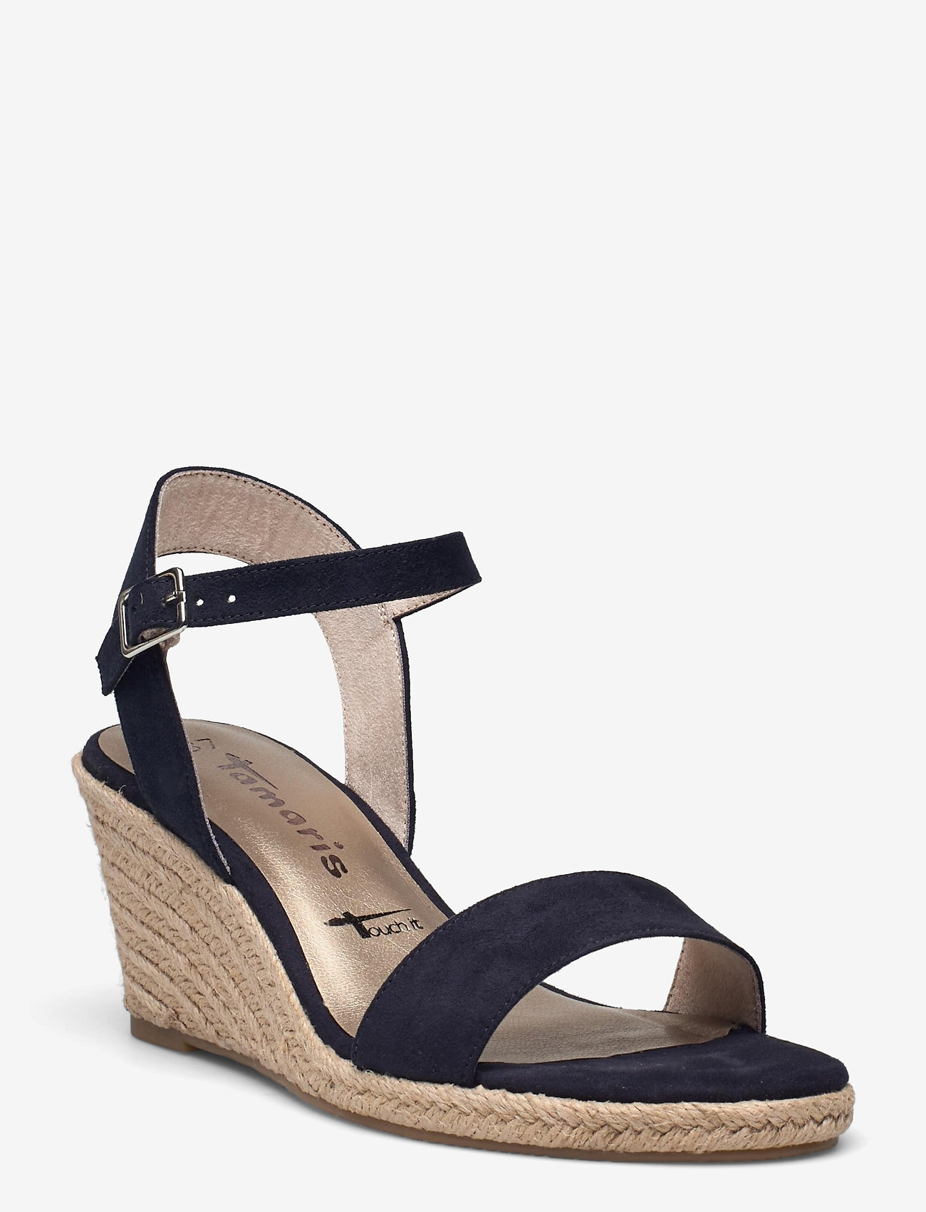 Tamaris - Woms Sandals - espadrilles mit absatz - navy - 0