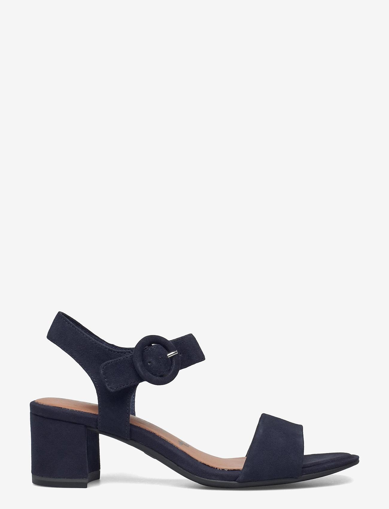 Tamaris - Woms Sandals - augstpapēžu sandales - navy suede - 1