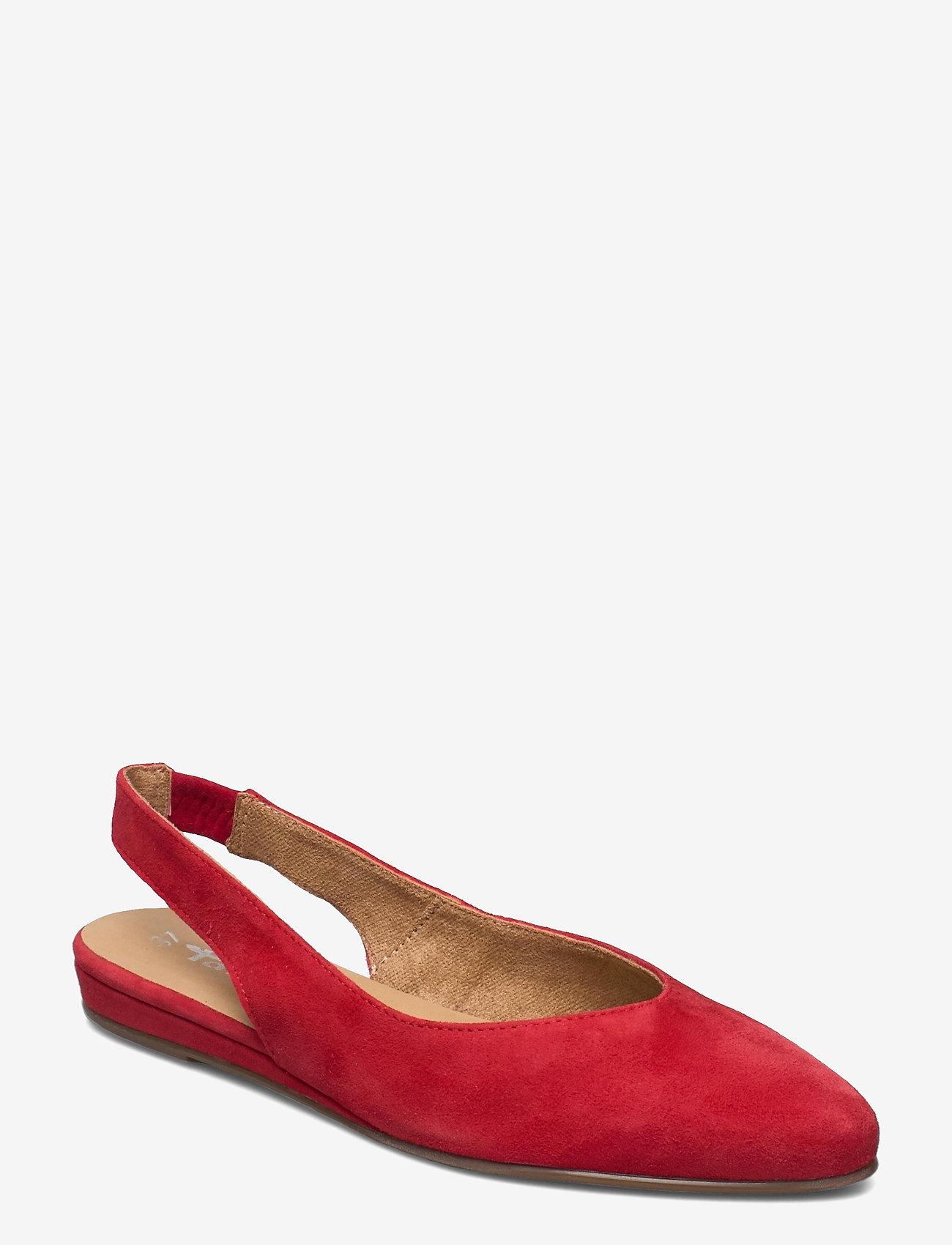 Tamaris - Woms Sling Back - ballerinas - lipstick - 0