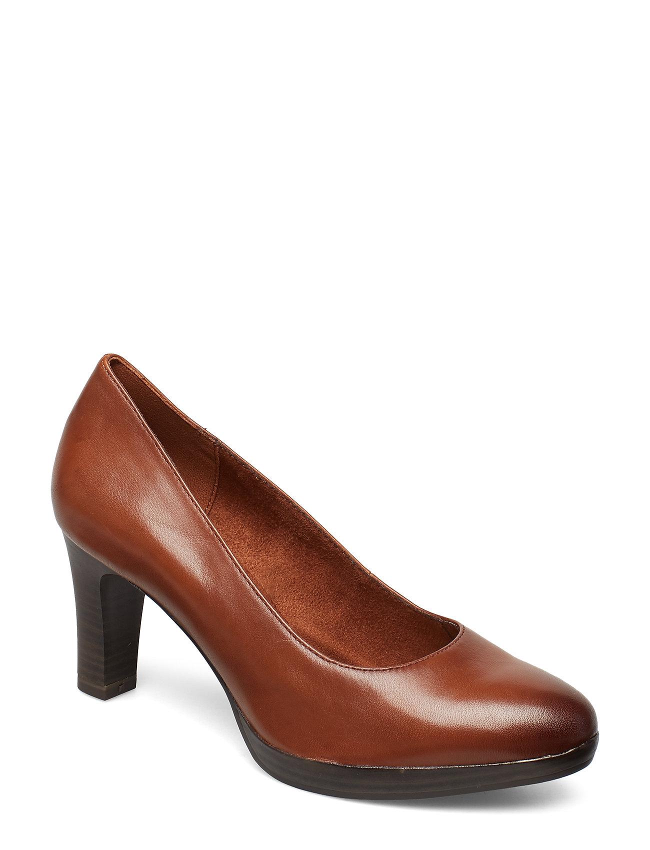 Tamaris Woms Court Shoe - COGNAC
