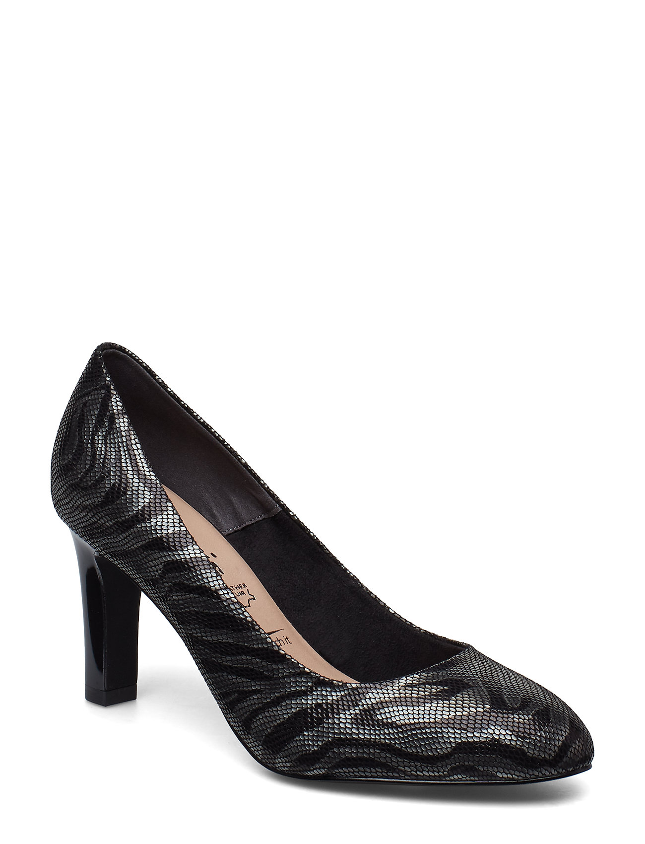 Tamaris Woms Court Shoe - BLACK STRUCT.