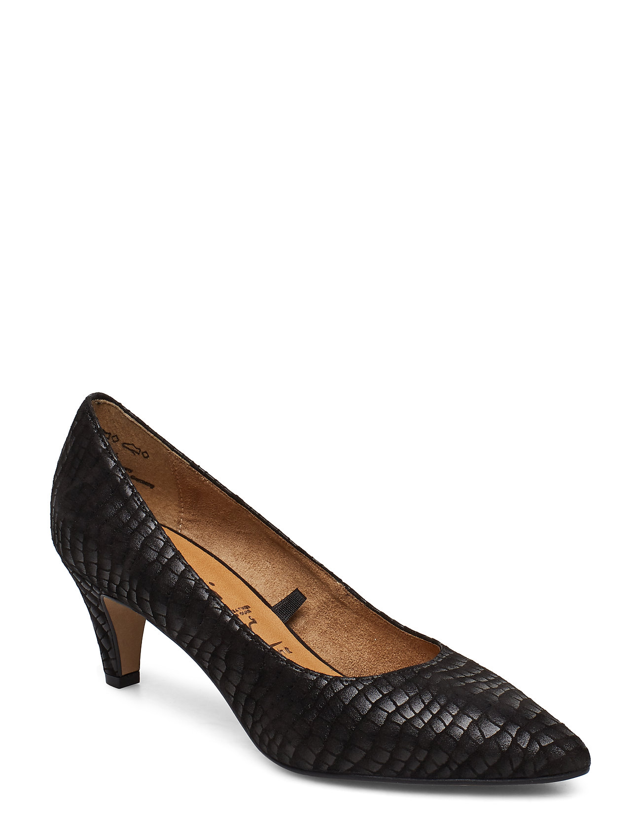 Tamaris Woms Court Shoe - BLACK STRUCT.
