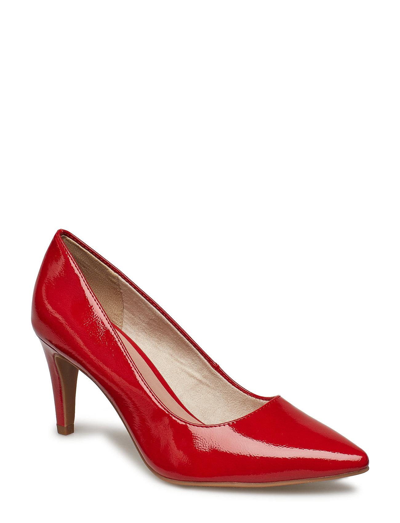 Tamaris Woms Court Shoe - CHILI PATENT