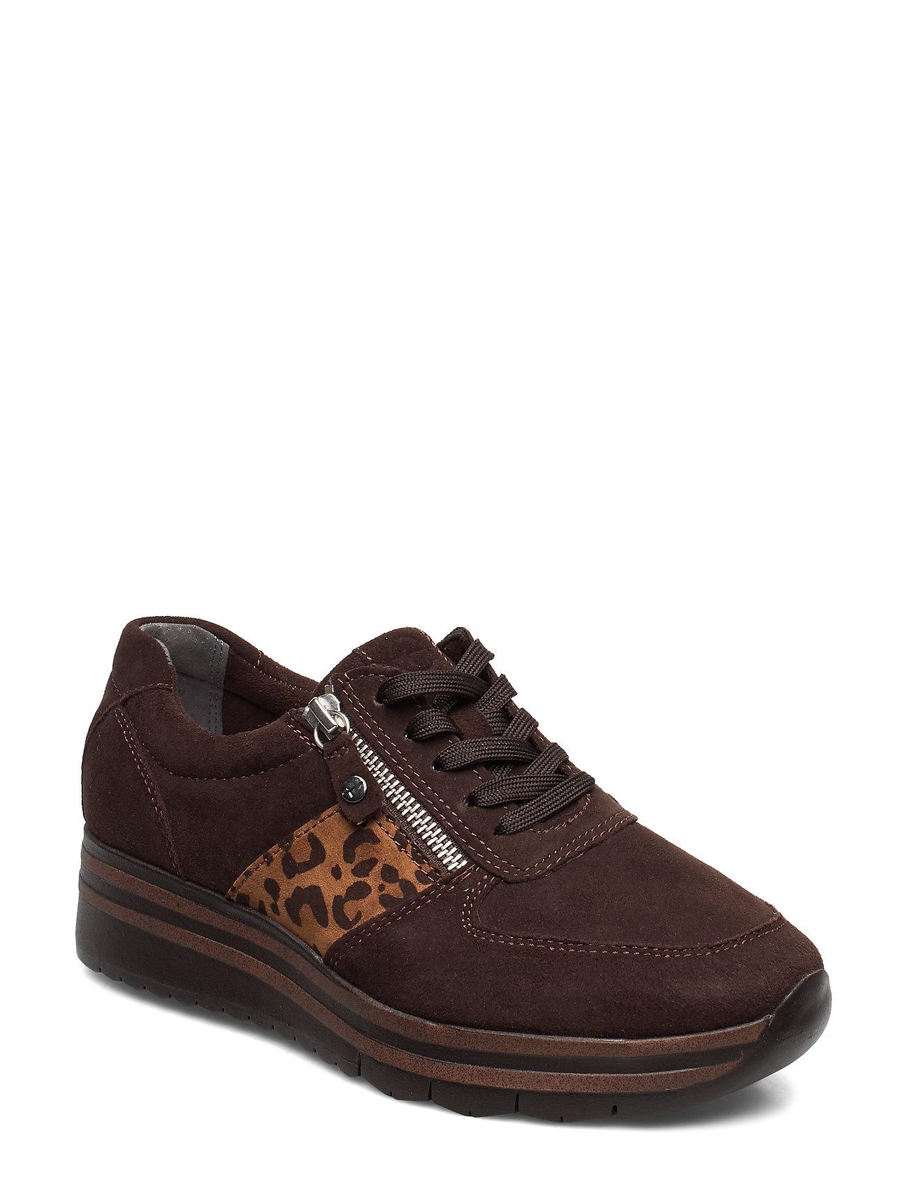 Image of Woms Lace-Up Low-top Sneakers Brun Tamaris (3305107147)