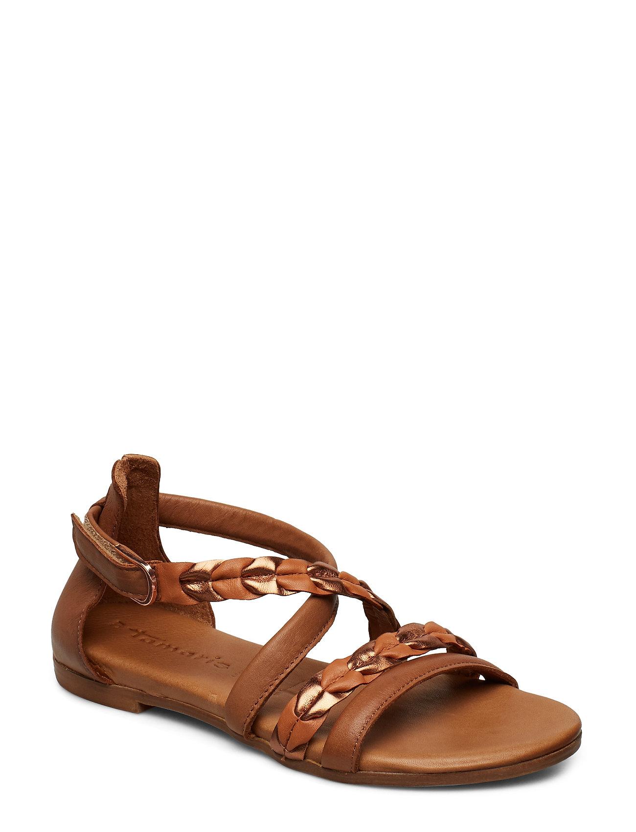 a4b9474d8e22 Woms Sandals flade sandaler fra Tamaris til dame i COGNAC COMB ...
