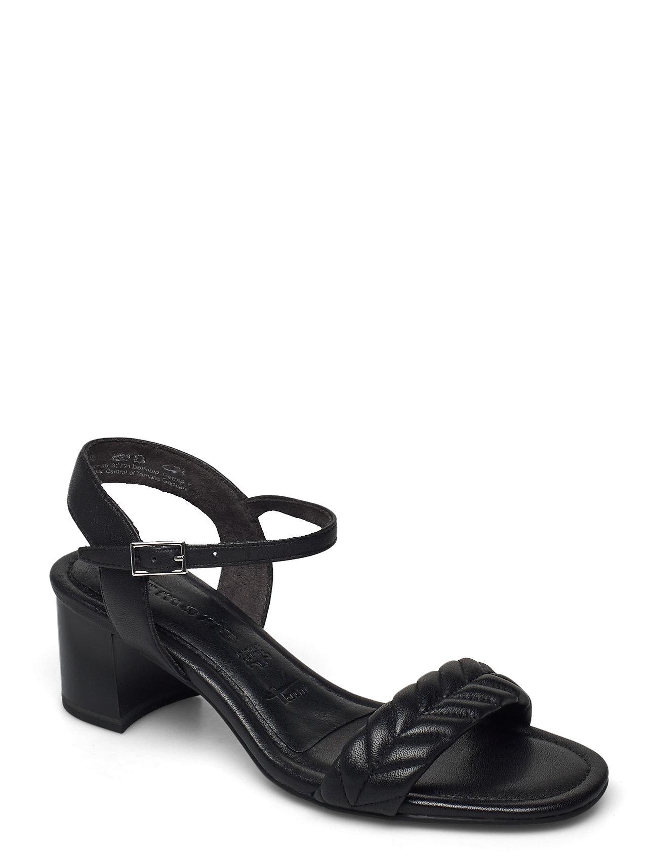 Woms Sandals Sandal Med Hæl Sort Tamaris