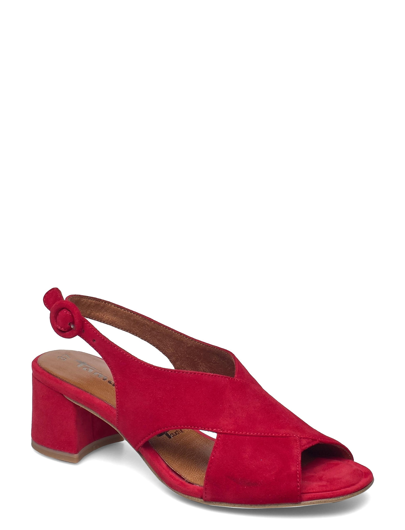 Woms Sandals Shoes Heels Pumps Sling Backs Rød Tamaris