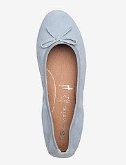 Tamaris - Woms Ballerina - ballerinas - lt. blue suede - 3