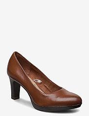 Woms Court Shoe - BRANDY