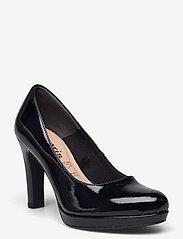 Tamaris - Woms Court Shoe - Moffen - klasiski augstpapēžu apavi - black patent - 0