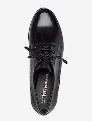Tamaris - Woms Lace-up - snörskor - black leather - 3