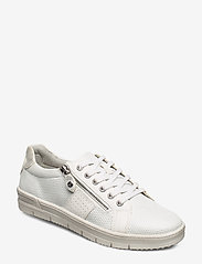 Tamaris - Woms Lace-up - sneakers med lav ankel - white comb - 0
