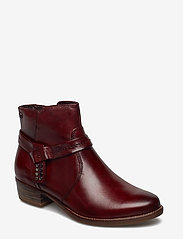 Tamaris - Woms Boots - ankle boots with heel - sangria - 0