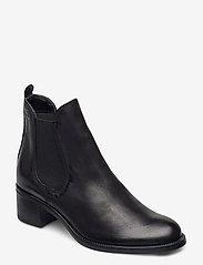 Tamaris - Woms Boots - enkellaarsjes met hak - black nubuc - 0