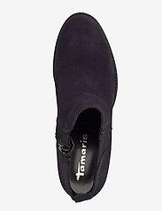 Tamaris - Woms Boots - enkellaarsjes met hak - navy suede - 3