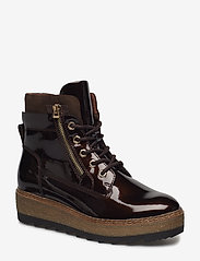 Tamaris - Woms Boots - talon bas - maroon pat. - 0