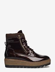 Tamaris - Woms Boots - talon bas - maroon pat. - 1
