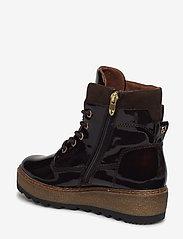 Tamaris - Woms Boots - talon bas - maroon pat. - 2