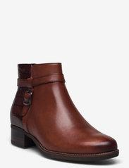 Tamaris - Woms Boots - Marly - puszābaki bez papēža - chestnut comb - 0