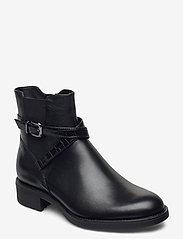 Tamaris - Woms Boots - platte enkellaarsjes - black/croco - 0