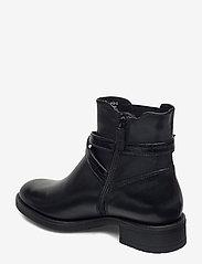 Tamaris - Woms Boots - platte enkellaarsjes - black/croco - 2