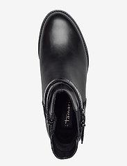 Tamaris - Woms Boots - platte enkellaarsjes - black/croco - 3
