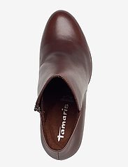 Tamaris - Woms Boots - enkellaarsjes met hak - maroon/croco - 3