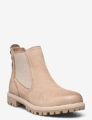 Tamaris - Woms Boots - Papaw - chelsea stila zābaki - taupe - 0