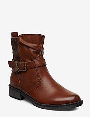 Tamaris - Boots - flate ankelstøvletter - cognac - 0