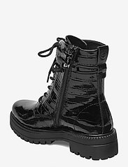 Tamaris - Woms Boots - platte enkellaarsjes - blk croco pat. - 2