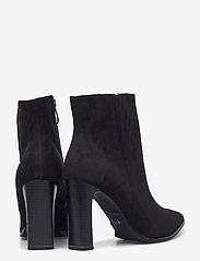 Tamaris - Woms Boots - enkellaarsjes met hak - black suede - 4