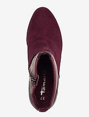 Tamaris - Boots - talon haut - merlot comb - 3