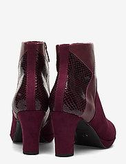 Tamaris - Boots - talon haut - merlot comb - 4