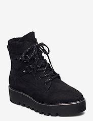 Tamaris - Woms Boots - flade ankelstøvler - black - 1