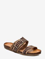Tamaris - Woms Slides - flat sandals - nature comb - 0