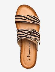 Tamaris - Woms Slides - flat sandals - nature comb - 3