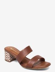 Tamaris - Woms Slides - Swida - augstpapēžu sandales - cognac - 0