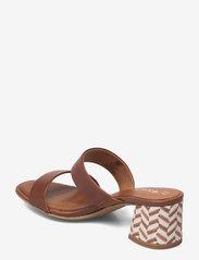 Tamaris - Woms Slides - Swida - augstpapēžu sandales - cognac - 2
