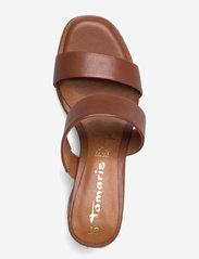 Tamaris - Woms Slides - Swida - augstpapēžu sandales - cognac - 3