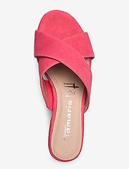 Tamaris - Woms Slides - høyhælte sandaler - coral - 3