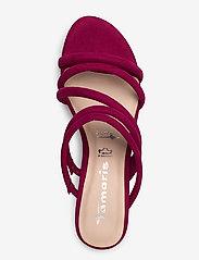 Tamaris - Woms Slides - heeled sandals - cranberry - 3