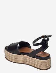 Tamaris - Woms Sandals - espadrilles mit absatz - black - 2