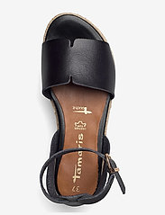 Tamaris - Woms Sandals - espadrilles mit absatz - black - 3
