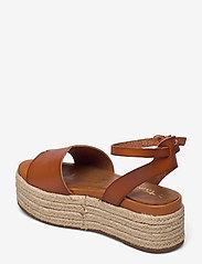 Tamaris - Woms Sandals - højhælede espadrillos - hazelnut - 2